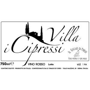 Vino Rosso Villa Cipressi Vol 14%