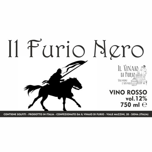 """VINO ROSSO """"IL FURIO NERO"""" VOL 12%"""