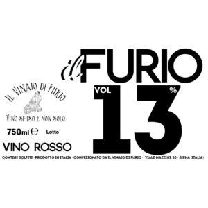 Vino Rosso Il Furio 13 Vol 13%