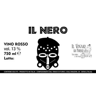 """Vino Rosso """"Il Nero"""" Vol 13%"""