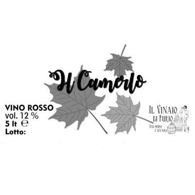 """Vino Rosso """"Il Camerlo"""" Vol 12%"""