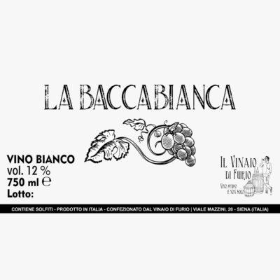 """Vino Bianco """"La BaccaBianca"""" Vol 12%"""