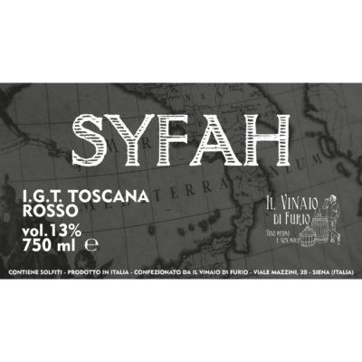 """I.G.T. TOSCANA ROSSO """"SYFAH"""" VOL 13%"""