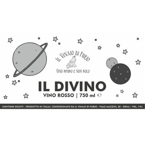 """I.G.T. Toscana Rosso """"Il Divino"""" Vol 14%"""