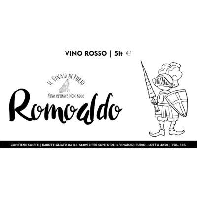 """Vino Rosso """"Romoaldo"""" Vol 14%"""